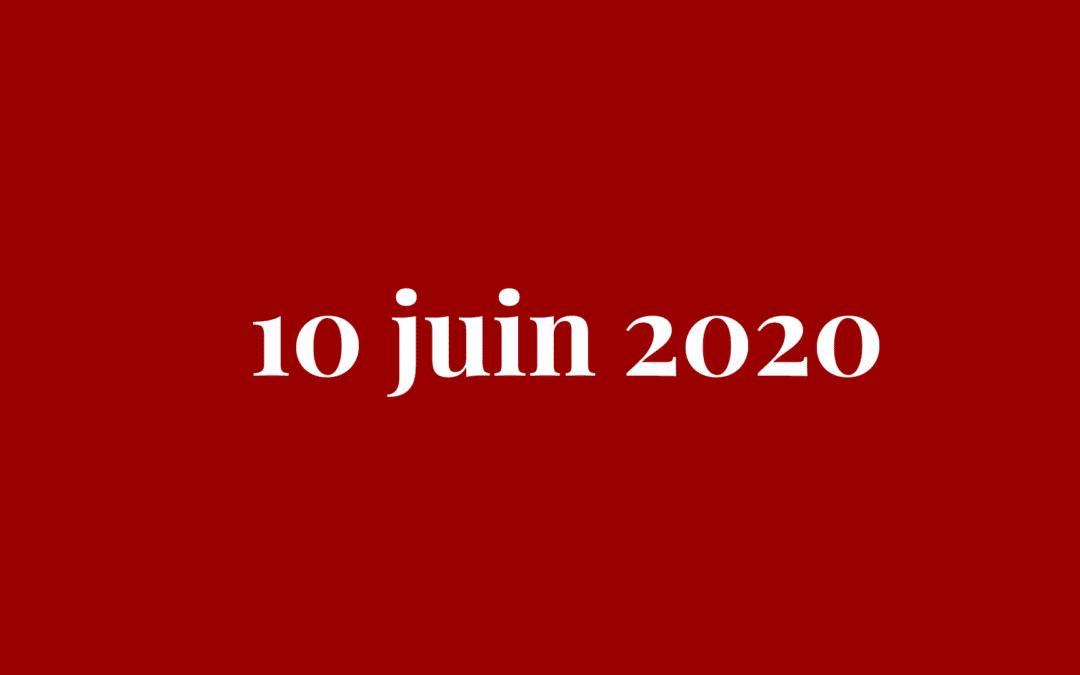 Réouverture le 10 juin 2020